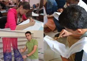 Mahasiswa Internasional UNY Membatik di Hari Batik Nasional